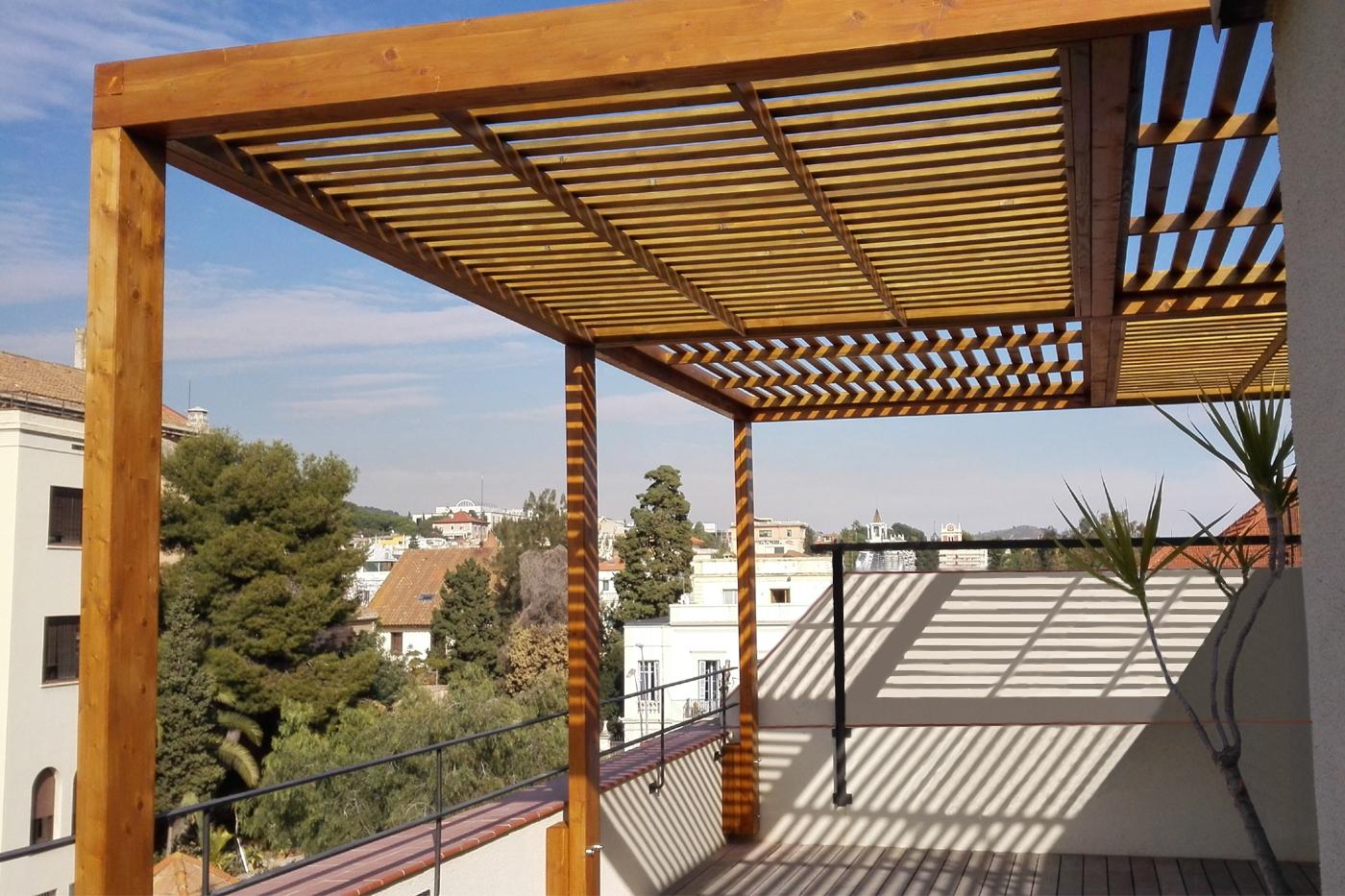 P rgola para terraza mobla manufactured arquitecture - Pergolas de terraza ...